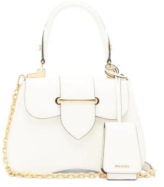 Prada Sidonie Small Saffiano Leather Cross Body Bag - Womens - White