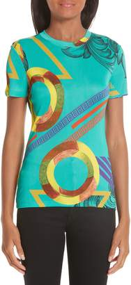 Versace Abstract Print Tee