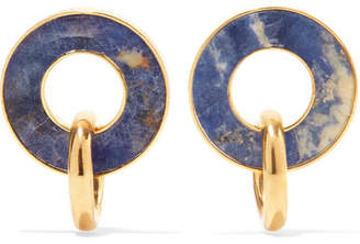 Paola Vilas - Constantin Gold-plated Sodalite Earrings - Blue