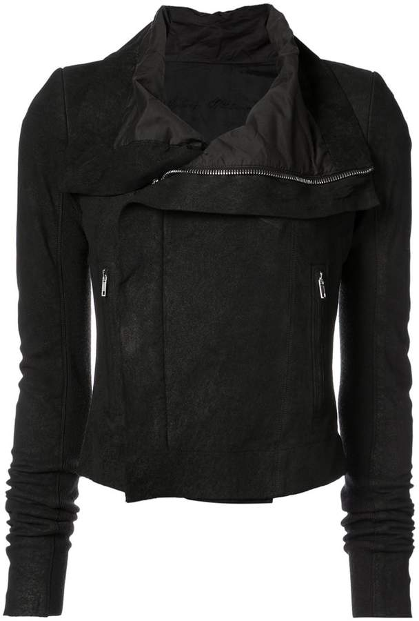 Rick Owens open collar jacket
