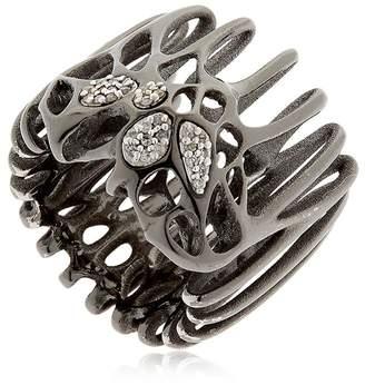 Flowen Moxi Rhodium Plated & Diamond Ring