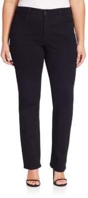 NYDJ Plus Hayley Straight-Leg Jeans
