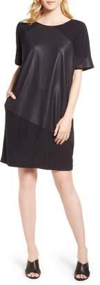 Kenneth Cole New York Glitter Block T-Shirt Dress