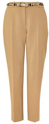 Wallis Camel Snake Print Belt Trouser