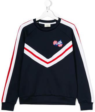 Fendi contrast stripes sweatshirt