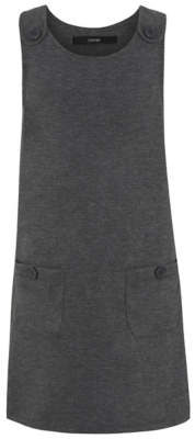 George Grey Button Detail School Pinafore Dress