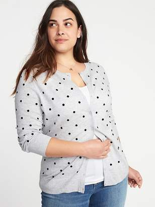 Old Navy Embroidered Polka-Dot Plus-Size Cardi