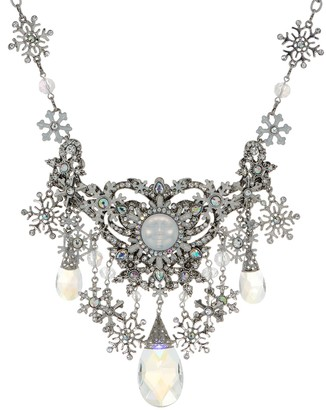 Snow Queen Kirks Folly Crystal Seaview Moon Necklace
