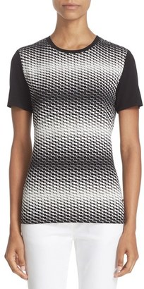 Women's St. John Sport Collection Zigzag Jersey Tee $295 thestylecure.com