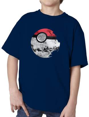 Star Wars Blue Bubble Tees BBT Kids Boys Girls Pokemon Death Star T-Shirt Tee L
