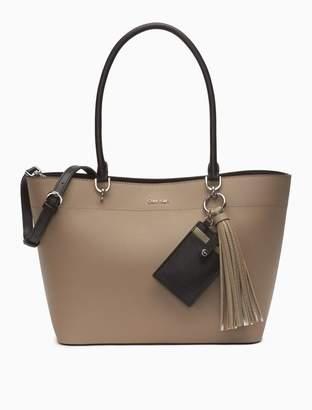 373e87403c8 Calvin Klein saffiano tote bag + card case