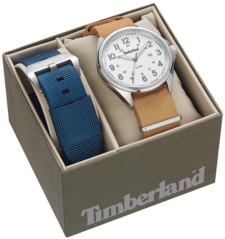 TimberlandTimberland Men's Raynham Leather Strap Watch