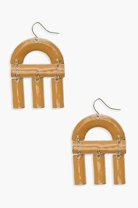 boohoo Acrylic U Shape Drop Earrings