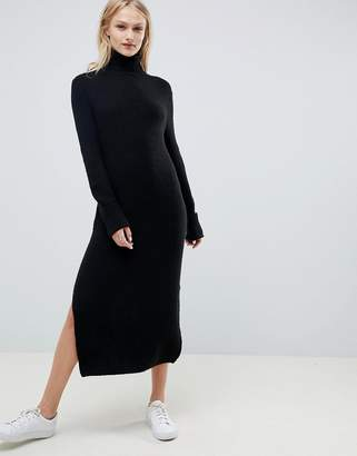 Asos Design DESIGN jumper dress in midi length with side splits