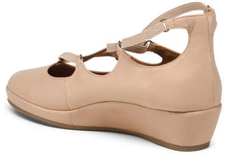 Memory Foam All Day Comfort Leather Wedges