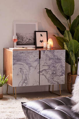 Deny Designs Holli Zollinger For Deny French Linen Marble Credenza