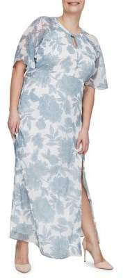 Junarose Plus Amia Risia Short-Sleeve Maxi Dress