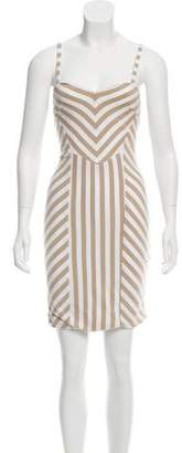 Torn By Ronny Kobo Sleeveless Striped Dress