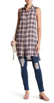 SUSINA Sleeveless Plaid Tunic $29.97 thestylecure.com
