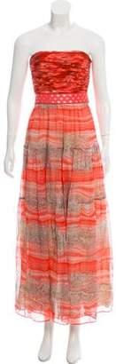 Giambattista Valli Strapless Midi Dress
