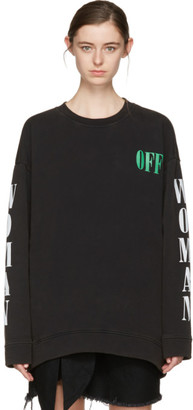 Off-White Black Psycho Plant Pullover $570 thestylecure.com