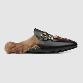 Gucci Princetown slipper with appliques
