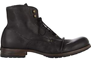 Shoto Men's Wrinkled Boots - Black