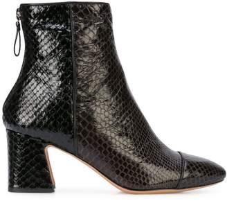 Alexandre Birman python skin high heel boots