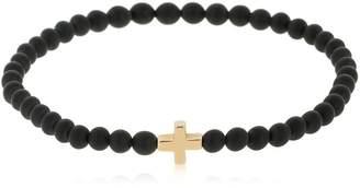 Luis Morais Yellow Gold Greek Cross Bracelet