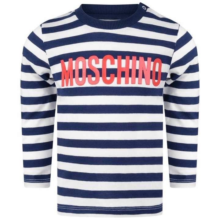 Boys Navy Striped Jersey Top