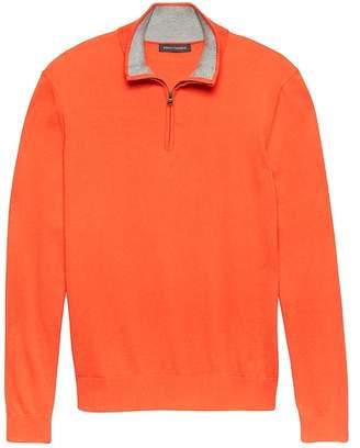 Banana Republic Premium Cotton Cashmere Half-Zip Sweater