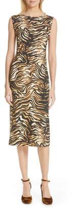 Rachel Comey Medina Tiger Print Sheath Dress