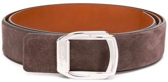Santoni square buckle belt