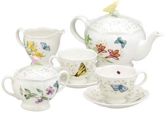 "Lenox Butterfly Meadow"" 7-Piece Tea Set, Service for Two"