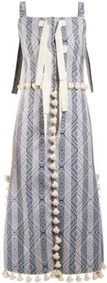 Altuzarra Villette tassel-trimmed diamond-jacquard dress