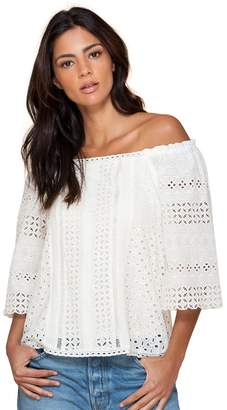 Hale Bob Fiona Off Shoulder Eyelet Top
