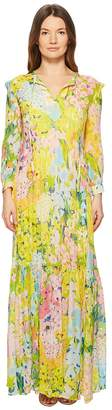 Moschino Flower Printed Creponne Maxi Dress