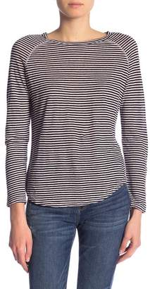 Frame Fine Stripe Long Sleeve Linen Shirt
