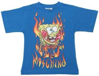 Moschino Spongebob Printed Cotton Jersey T-Shirt