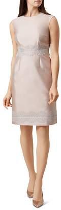 Hobbs London Fran Appliquéd Sheath Dress
