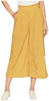 J.o.a. Side Tie Pleated Wide Leg Pants Women's Casual Pants