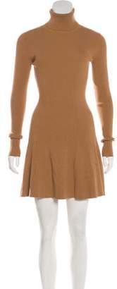 A.L.C. Rib Knit Turtleneck Dress