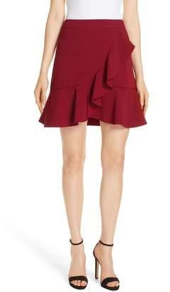 Alice + Olivia Juno Ruffled A-Line Miniskirt