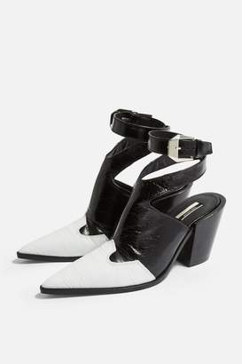 0d1eedc54be4 Topshop Womens Huxley High Ankle Boots - Monochrome