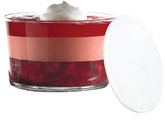 Anchor Hocking Glass Trifle Bowl & White Snaptop Lid