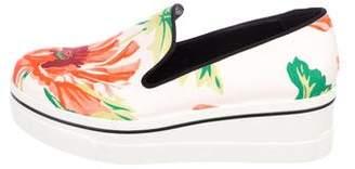 Stella McCartney Floral Platform Slip-On Sneakers