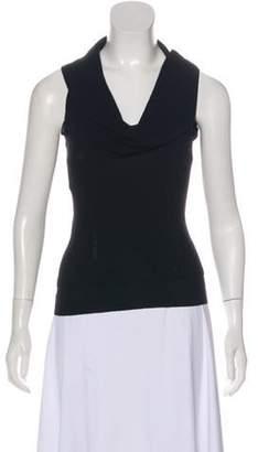 Celine Cashmere Sleeveless Top Black Cashmere Sleeveless Top
