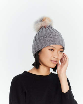 Jocelyn Real Fur Pom-Pom Beanie