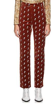 Chloé Women's Archival Embroidery Velvet Trousers