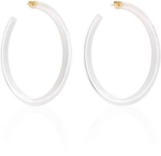 Alison Lou Large Jelly Lucite Hoop Earrings
